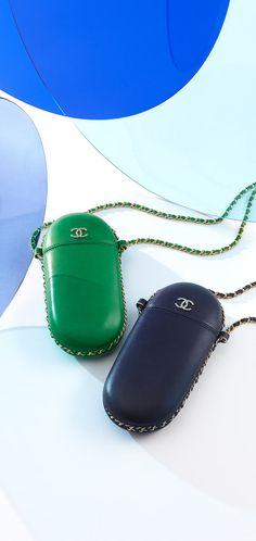 Lambskin glasses case with a long... - CHANEL