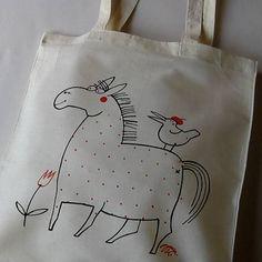 blueprint / NA KOŇÁÁÁ !!! - taška nákupka Reusable Tote Bags