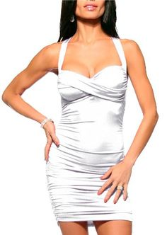 Ruched Sexy Cocktail Fitted X Back Club Party Hot Mini Dress: Disclosure: Affiliate Link
