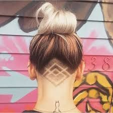 Image result for back undercut tattoo: