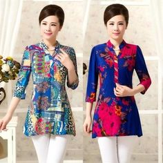XL,XXL,3XL,4XL,5XL 2015 New Summer Blusa Feminina Plus Size Women Blouse Ropa Mujer Vintage Print Top Shirt Tunic Kimono Camisas-in Blouses & Shirts from Women's Clothing & Accessories on Aliexpress.com | Alibaba Group