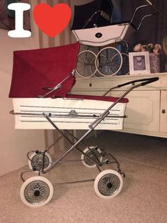 Vintage Pram, Retro Vintage, Baby Prams, Kids And Parenting, Baby Strollers, Car Seats, Art, Restoration, Random Stuff