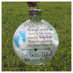 Infant loss ornament Memorial baby by PaintedTreasuresbyme