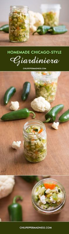 Homemade Chicago-Style Giardiniera - Giardiniera is a wonder condiment, turning any sandwich into a burst of flavor. Here is our Chicago-style recipe with plenty of chili peppers.