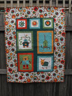 Cogsmo panel quilt