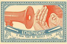 Echophonic by Rocket Type on @creativemarket