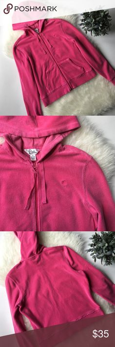 //Lilly Pulitzer Zip up Hoodie// Pink Lilly Pulitzer Zip up Hoodie. Size small. Great condition. No rips or stains. 77% Cotton, 21% Nylon and 2% Spandex. Lilly Pulitzer Tops Sweatshirts & Hoodies
