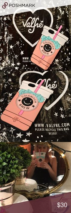 "Valfre iPhone 6+ ""Cold b*tch brew"" phone case Like new condition! Valfre iPhone 6 Plus phone case! (Bag not included) it belongs to a jacket I am selling and is available in my closet! Bundle and save valfre Accessories Phone Cases"