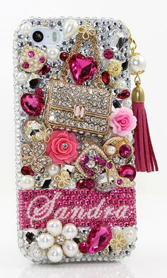 Fashion Purse Personalized Name & Initials Design with Tassel Phone Charm bling case for iPhone 6/ 6s/ 6s Plus, iPhone 4/ 4S, iPhone 5/ 5s/ 5c, Samsung Galaxy S3/ S4/ S5/ S6 edge, Galaxy Note 2/ 3/ 4/ 5, Nokia Lumia, MI, Black Berry, Motorola, HTC, LG and other phone model/Devices. Get this Crystal bling 3D phone case cover for your family's Christmas gift. http://luxaddiction.com/collections/personallized-designs/products/ab-stones-and-florals-personalized-name-initials-design-style-pn_1089