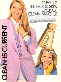 Christie Brinkley for 1987 Cover Girl Ad