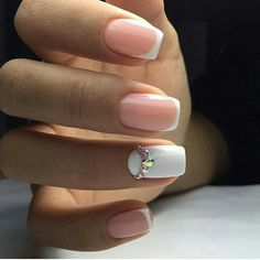 45 Awesome French Nail Art Designs Here are cute, quirky, and incredibly unique french nail art design ideas for your inspiration! You can check also french tip nail designs with glitter and french tip nail designs for short nails. French Nails, French Manicures, Colorful Nail Designs, Nail Art Designs, Nails Design, Fun Nails, Pretty Nails, Crome Nails, Nailed It