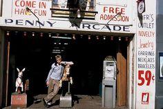 James Dean works the Arcade.