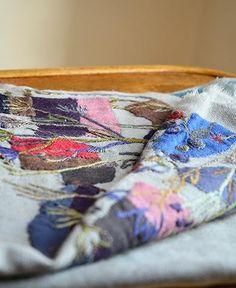 ガーゼウールのストール スリーシーズン使えて便利 / echape wool west (4116C/MR/SILVER/INK) by Sophie Digard | petiteparis