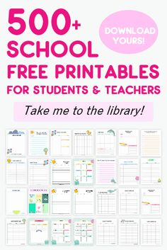 Entire Student and Teacher Binder Free Printables Library This huge library of student binder and teacher binder free printables includes almost every printable you need for school. View the entire library! Teacher Planner Free, Kids Planner, Student Planner Printable, Home School Planner, Teacher Lesson Planner, Free Planner, Budget Planner, Illinois, Student Binders