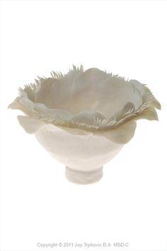 Joy Trpkovic: Ripple Carved Pinch Pot by Joy Trpkovic B.A. MSD-C: Vessels