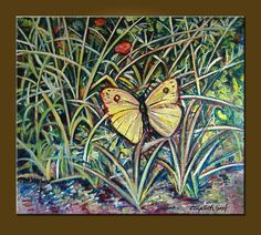 The Butterfly -- 38 x 44 inch Original Oil Painting -- READY TO HANG -- Mural size, Huge