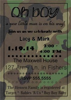 248 best baby shower invitesthank yous images on pinterest in 2018 digital camo baby shower party invitation diy printable filmwisefo