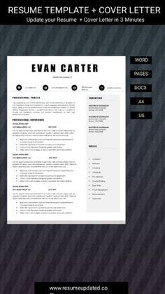 Cv Design Template, Modern Resume Template, Resume Templates, Cover Letter For Resume, Cover Letter Template, Carter Page, Work Productivity, Resume Design, Professional Resume