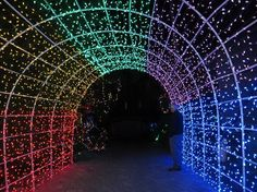 Cambria Pines Lodge: Lighted tunnel entrance to the gardens