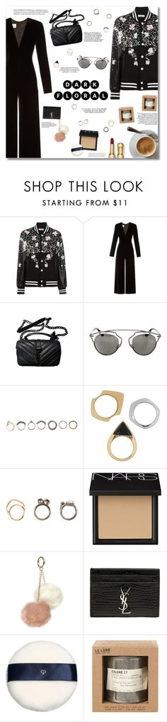 """""""Dark Floral"""" by igedesubawa ❤ liked on Polyvore featuring NIGHTMARKET, La Mania, Yves Saint Laurent, Christian Dior, Iosselliani, Sam Edelman, NARS Cosmetics, Dorothy Perkins, Clé de Peau Beauté and Le Labo"""
