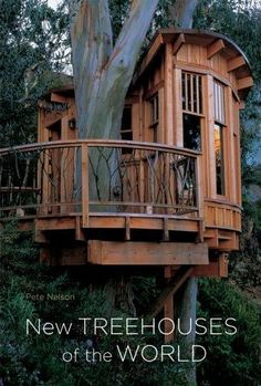 "Book: ""Since the publication of Treehouses of the World, the community of treehouse builders has grown tremendously, and many more innovative treehouses have been built around the world. In New Treehouses of the World, world-renowned treehouse designer and builder Pete Nelson takes readers on an exciting, international tour of more than 35 new treehouses that reveal how treehouses are designed, constructed, and appreciated in a wide array of cultures and settings."""