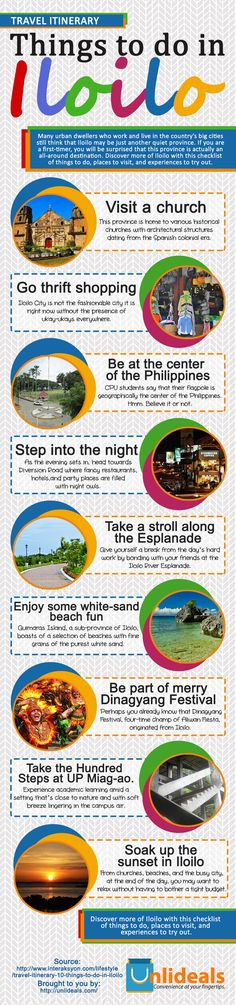 Few things you can do in Iloilo City.