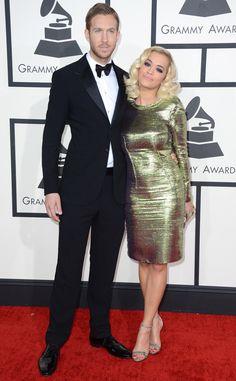Rita Ora & Calvin Harris from 2014 Grammys: Red Carpet Arrivals | E! Online