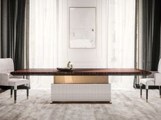 Rectangular dining table ROCK R by Capital Collection
