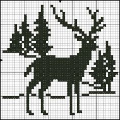 Jednofarebné vzory - bordados tejidos y otros Xmas Cross Stitch, Counted Cross Stitch Patterns, Cross Stitch Charts, Cross Stitch Designs, Cross Stitching, Cross Stitch Embroidery, Christmas Stocking Pattern, Christmas Knitting, Knitting Charts