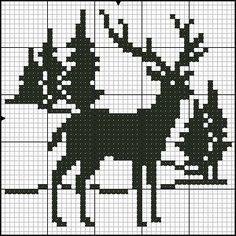 Jednofarebné vzory - bordados tejidos y otros Christmas Stocking Pattern, Christmas Knitting, Christmas Cross, Cross Stitch Charts, Cross Stitch Designs, Cross Stitch Patterns, Cross Stitching, Cross Stitch Embroidery, Monochrome Pattern