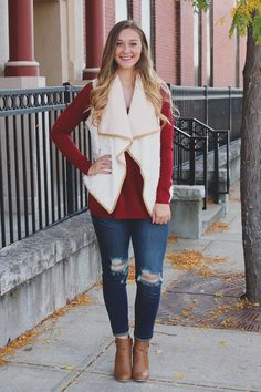 Faux Fur Faux Suede Trim Asymmetrical Pocketed Vest – UOIOnline.com: Women's Clothing Boutique