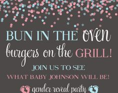 gender reveal party, gender reveal, diaper ticket, blue and pink, gender invitation