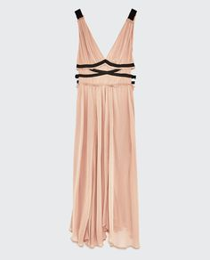 DRESS WITH CONTRASTING RIBBONS