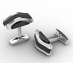 All the way from Australia, say G'day to Hardware - Stainless Steel Curved Cufflinks