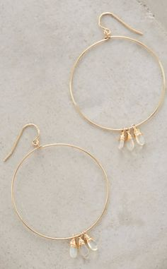 Opal Fringed Hoops #anthrofave