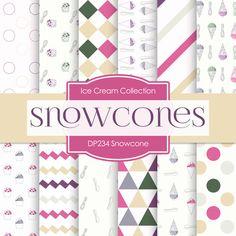 Snowcone Digital Paper DP234 - Digital Paper Shop - 1
