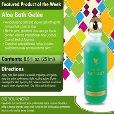 Aloe Bath Gelee Beautifully scented Gentle formula is kind to skin Moisturizing bath and shower gel £13.92