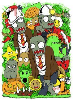 plant vs. zombies Zombie Birthday Parties, Zombie Party, Birthday Ideas, Zombies Vs, Plantas Versus Zombies, Zombie Crafts, Plant Zombie, Zombie Monster, Zombie Shirt