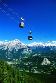 MUST do this!  Can you imagine the gorgeous views?!? Banff Gondola