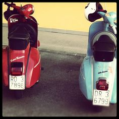 me and my friend -  #VESPA rulez   vespa gtr 1971vs. vespa super 1969