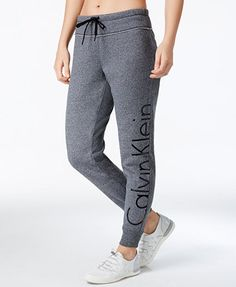 Calvin Klein Performance Logo Fleece Sweatpants   macys.com