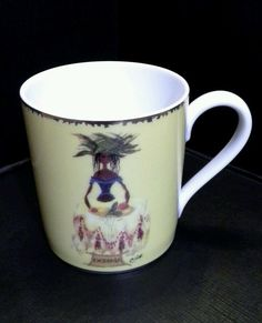 Christian Lacroix Oceania Five Continents Coffee Mug Cup EUC