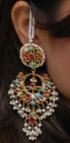 Navrattan earrings
