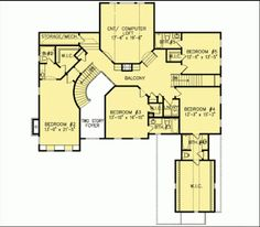 W15754GE second floor plan