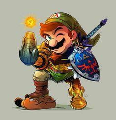 Mario Samus Link