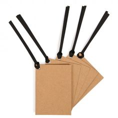 Recycled folded kraft gift tags - set of 10