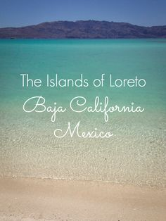 Turquoise water & empty white sand beaches on Coronado Island near Loreto, Baja California Sur, Mexico. Loreto is only about a 2-hour flight from Los Angeles and makes a great long weekend getaway from anywhere on the West Coast.