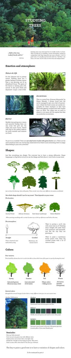 Studying: Trees (pt.1) by fabianrensch.deviantart.com on @DeviantArt