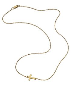 Sideways Cross by Jennifer Zeuner.  Available in several sizes and in sterling silver, gold vermeil or rose gold vermeil!