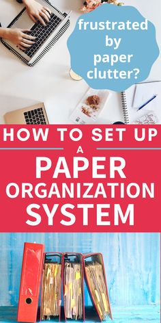 Organizing Paperwork, Organisation Hacks, Clutter Organization, Paper Organization, Organizing Tips, Organising Hacks, Household Organization, Office Organization, Cleaning Tips